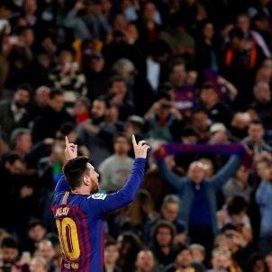 Messi Celebració Gol Barça Llevant EFE