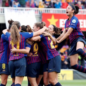 Barça Bayern Femeni Celebracio Gol Champions EFE
