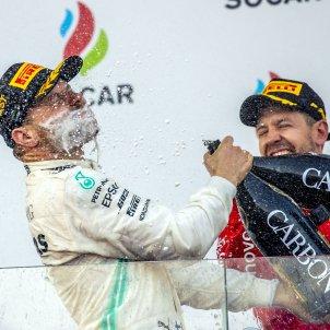 Valtteri Bottas Sebastian Vettel Baku Formula 1 EFE