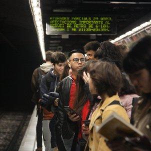 vaga metro Barcelna abril ACN