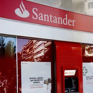 Una oficina del Banc Santander. Foto: ACN