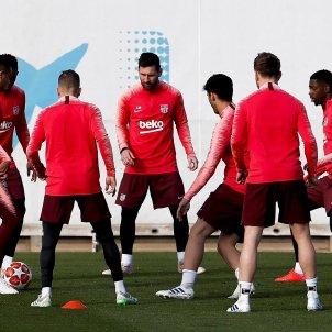 Barça entrenament EFE