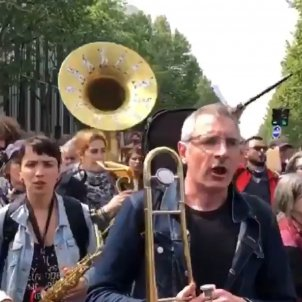 L'estaca manifestació París