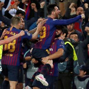 Messi Jordi Alba Suarez Sergi Roberto Barca Liverpool EFE