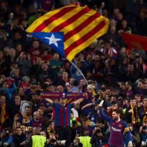 Messi Barça Liverpool Estelada EFE
