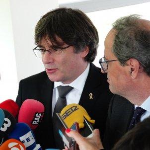 Roda de premsa president Quim Torra Carles Puigdemont Waterloo - Roberto Lázaro