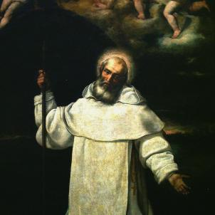 Mor Pere Nolasc, que havia redimit 4.000 captius cristians. Representació barroca de Pere Nolasc. Font Museo de Zaragoza