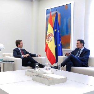 Reunió Pedro Sànchez Pablo Casado maig 2019 EFE