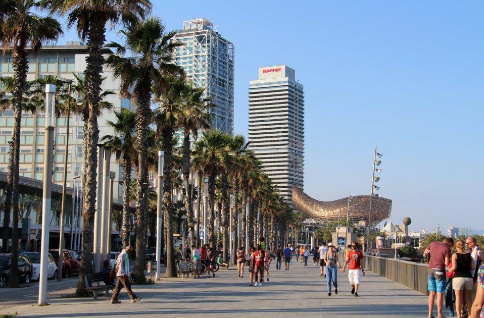 Passeig marítim de Barcelona. Foto: Flickr