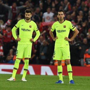 Pique Busquets Liverpool Barca EFE