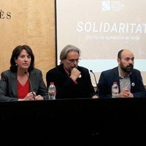 Roda de premsa caixa solidaritat
