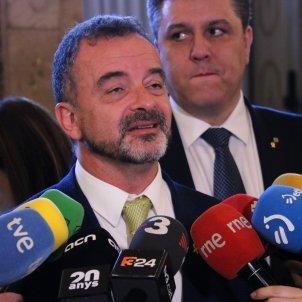 Conseller d'Acció Exterior, Alfred Bosch, en una atenció als mitjans al Parlament - ACN