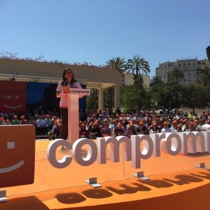 EuropaPress Mónica Oltra en un acto de Compromís en València