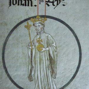 Mor el comte rei Joan I el Descurat. Representació de Joan I. Font Monestir de Poblet
