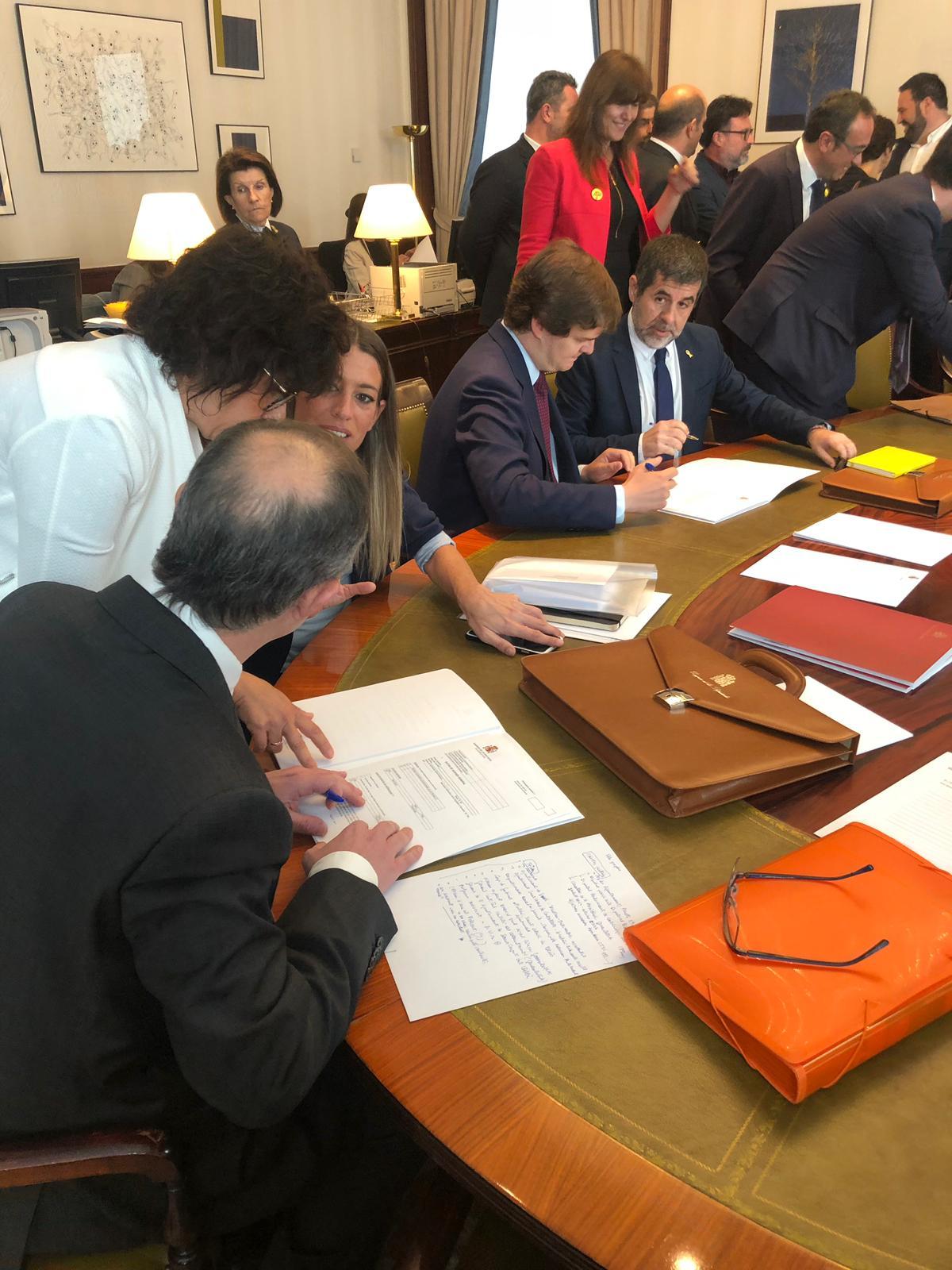 Sànchez Turull recullen credencials Congrés - JxCat