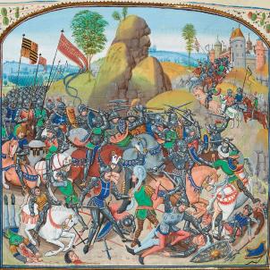 Pere el Cruel de Castella posa setge a València. 21 05 1363. Representació de la batalla de Montiel. Font Viquipedia