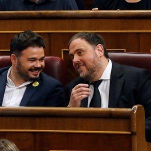 Rufián, Junqueras constitució Congrés - EFE