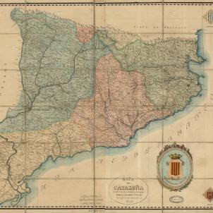 Es publica el primer cens modern de la història de Catalunya. Mapa de Catalunya (1859). Font Cartoteca de Catalunya