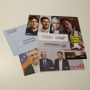 Publicitat electoral paperetes Candidats Eleccions Europees - Sergi Alcàzar
