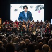 Acte final campanya JxCat Carles Puigdemont - Sergi Alcàzar