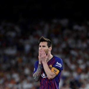 Messi trist final copa rei barca valencia EFE
