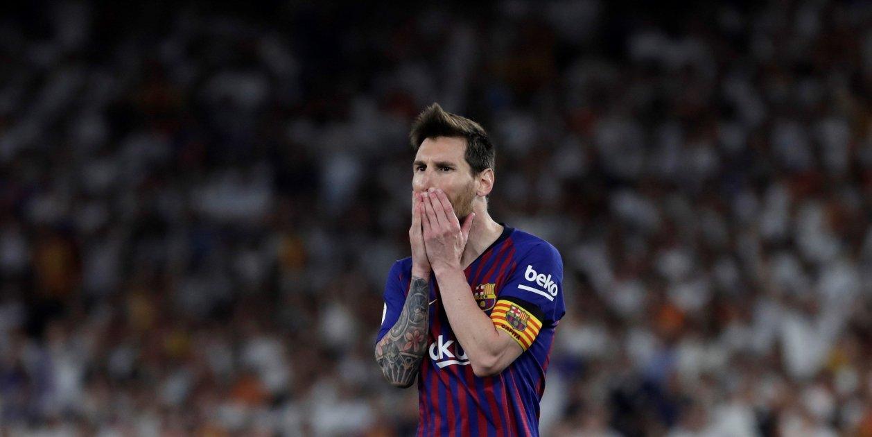 Messi Trist Final Copa Rei Barca Valencia