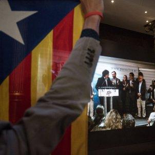 nit electoral junts per catalunya barcelona valoracio puigdemont estelada - Carles Palacio