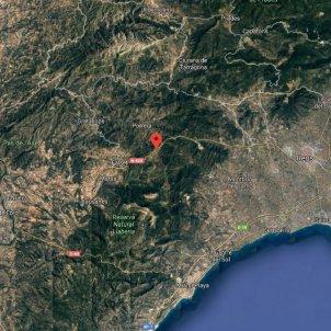 Pradell de la Teixeta Google maps