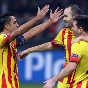 Messi Xavi Iniesta Barca FC Barcelona
