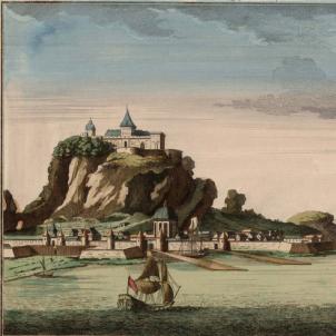 Gravat de Gibraltar (circa 1709). Font Cartoteca de Catalunya