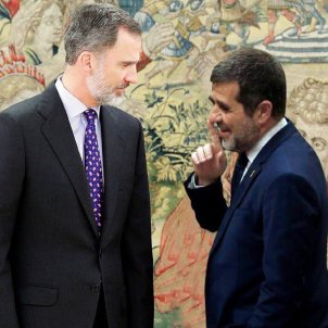 Fotomuntatge Rei Felip VI i Jordi Sànchez @jordialapreso
