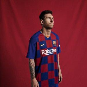 Messi Barça samarreta escacada FC Barcelona