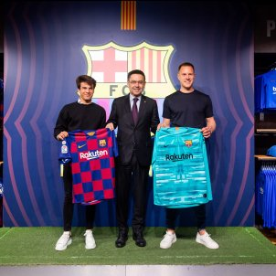 Bartomeu Riqui Puig Ter Stegen samarreta FC Barcelona
