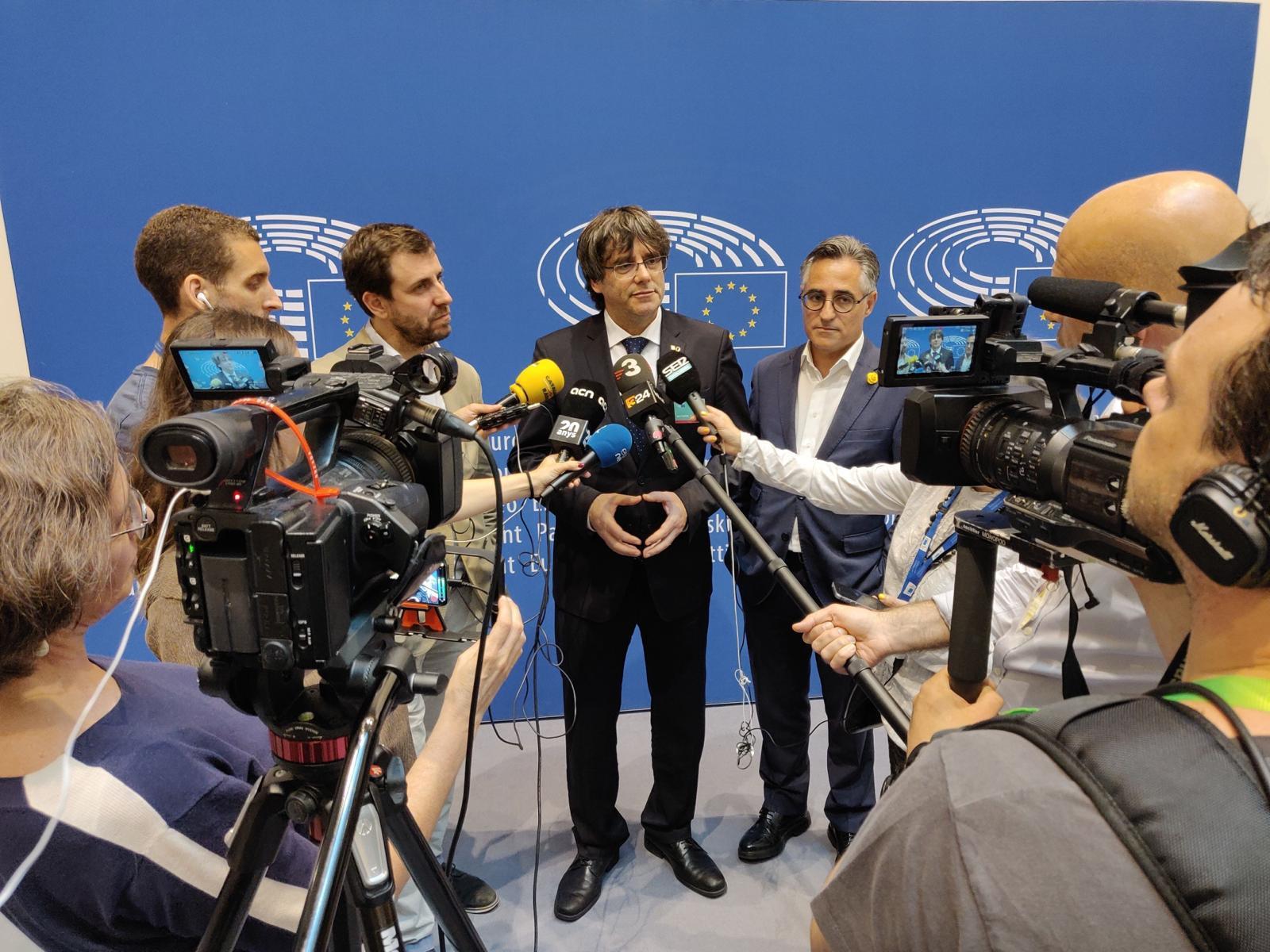 puigdemont comin tremosa parlament europeu - El Nacional
