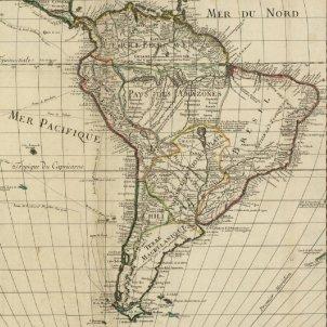 Test 61. Els catalans a Amèrica. Mapa del continent sud americà (1700). Font Bibliothèque Nationale de France