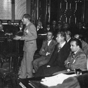 La justícia espanyola condemna a 30 anys de presó el govern de Catalunya. Sala del Tribunal Suprem durant el judici (maig 1935). Font Arxiu Nacional de Catalunya (3)