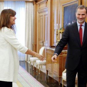 Laura Borràs Felip VI ronda contactes - EFE