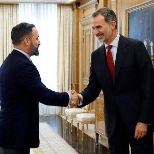 Santiago Abascal Vox i Rei Felip ronda de consultes - EFE