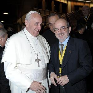 Emili Turu Superior dels Maristes amb papa Francesc
