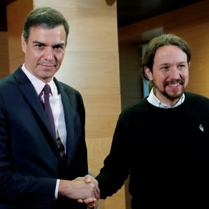 Pedro Sánchez Pablo Iglesias reunió 11 de juny 2019 EFE