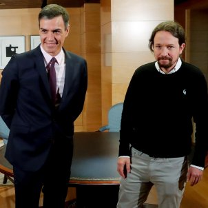 Pedro Sánchez Pablo Iglesias reunió 11 de juny 2019 Congrés  EFE