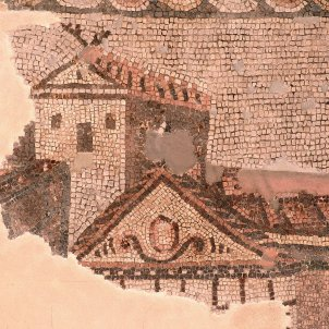 Test 62. El nom primigeni de les ciutats catalanes. Mosaic romà de la vila de Centelles. Font Museu Nacional Arqueologic de Catalunya