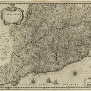 La Generalitat demana a Felip IV un virrei que no esté ofendido. Mapa de Catalunya (1640). Font Cartoteca de Catalunya