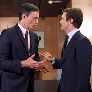 President govern espanyol Pedro Sànchez lider PP Pablo Casado - Efe
