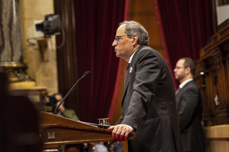 Quim Torra Parlament balanç 1 any govern- Sergi Alcàzar