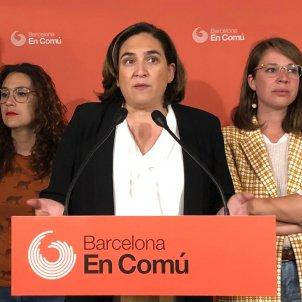 Roda de premsa comuns consulta interna pactes Barcelona Ada Colau - Marina Fernàndez