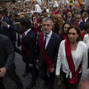 Colau Maragall Collboni Valls Manifestacio Plaça Sant Jaume Ple Constitucio Ajuntament de Barcelona - Sergi Alcàzar
