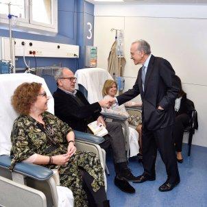Foto Isidro Fainé visita Hospital Clinic Barcelona
