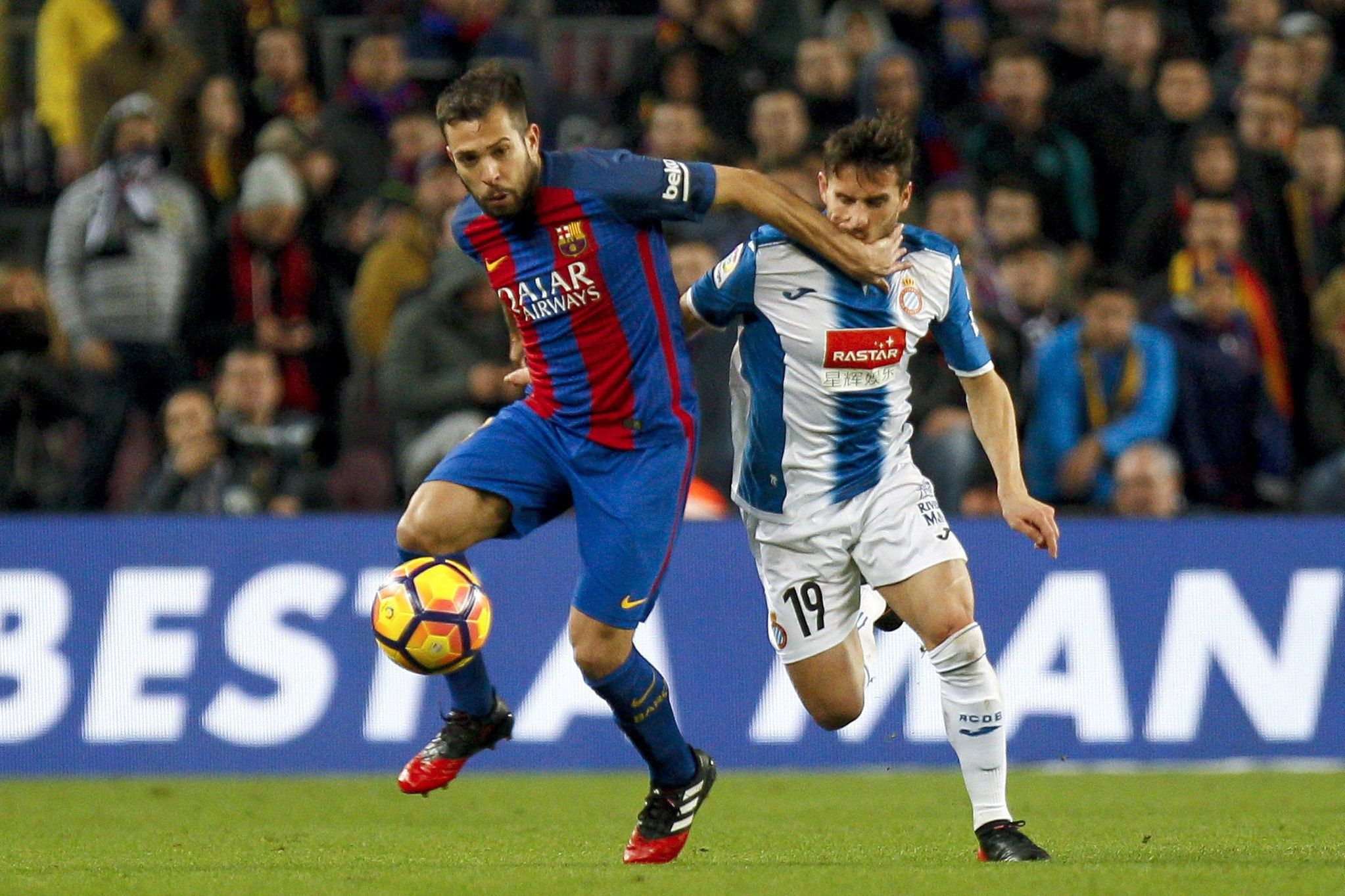 Jordi Alba Piatti Barça Espanyol EFE
