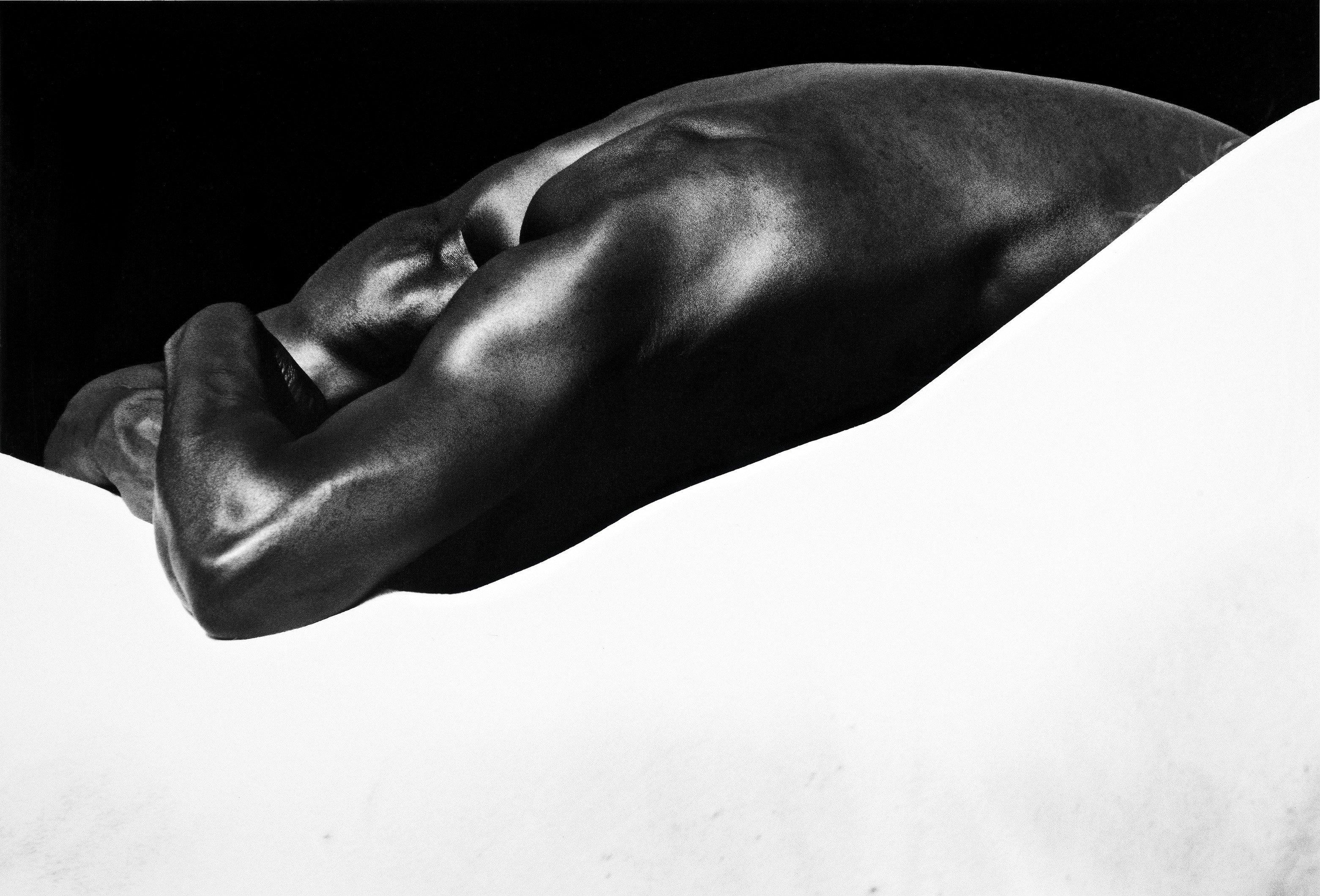 Laurent Elie Badessi Man s Back  Horse s Back  Camargue  France 'La bellesa de les línies' Foto Colectània  1994 (C) Laurent Elie Badessi